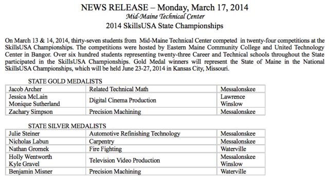 State Skills Championship